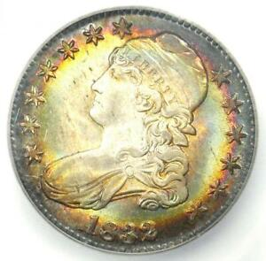 Click now to see the BUY IT NOW Price! 1832 CAPPED BUST HALF DOLLAR 50C. CERTIFIED ICG MS67  PLUS GRADE   RAINBOW TONE