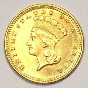 1871 INDIAN GOLD DOLLAR COIN  G$1    NICE BU DETAILS  UNC MS     DATE