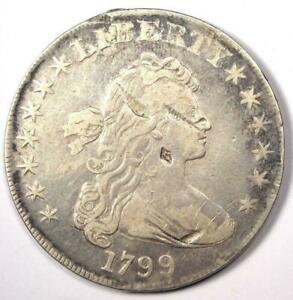 1799 DRAPED BUST SILVER DOLLAR $1   VF DETAILS    TYPE COIN