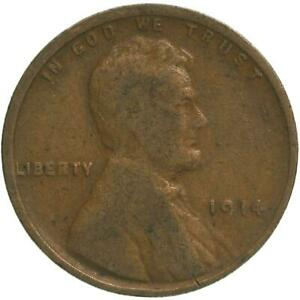 1914 LINCOLN WHEAT CENT GOOD PENNY GD