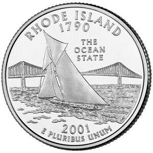 2001 P RHODE ISLAND STATE WASHINGTON QUARTER   CIRCULATED