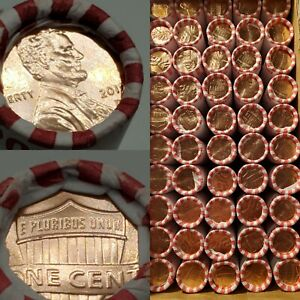 2019 D UNCIRCULATED PENNY CENT 50 QTY ROLL BANK BOX COIN LINCOLN SHIELD PENNIES