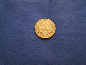 1865 CIVIL WAR ERA TWO CENT PIECE UNITED STATES COIN