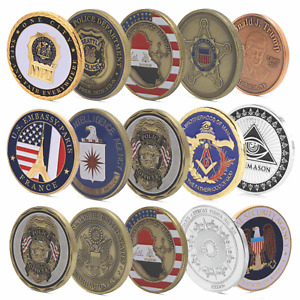 CHALLENGE COINS COLLECTORS AMERICAN MILITARY U.S.A MEDAL FEDERAL MEDALLION ARMY