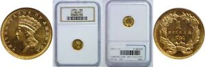 1884 $1 GOLD COIN NGC MS 63