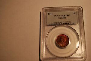 Click now to see the BUY IT NOW Price! CANADA 1944 CENT PCGS MS65 RB REGISTRY SET MATERIAL