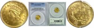1858 $1 GOLD COIN PCGS MS 65