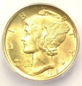 Click now to see the BUY IT NOW Price! 1918 D MERCURY DIME 10C COIN   CERTIFIED ICG MS65 FB  BU UNC    $12 100 VALUE