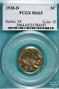 Click now to see the BUY IT NOW Price! 1928   D PCGS MS65 BUFFALO NICKEL     HD0127
