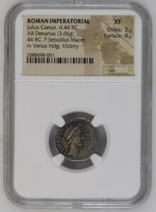 Click now to see the BUY IT NOW Price! JULIUS CAESAR DENARIUS NGC XF  PORTRAIT
