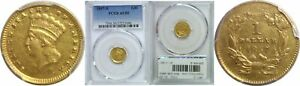 Click now to see the BUY IT NOW Price! 1857 D $1 GOLD COIN PCGS AU 50