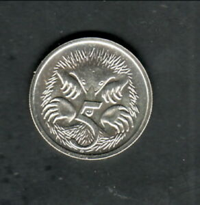 AUSTRALIA  1988 UNC  5 CENTS COIN  SPINY ANTEATER