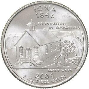 2004 P STATE QUARTER IOWA BU CN CLAD US COIN