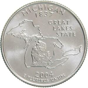 2004 D STATE QUARTER MICHIGAN GEM BU CN CLAD US COIN