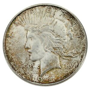 Click now to see the BUY IT NOW Price! 1922 D TONED MULTIPLE DIE BREAKS THROUGHOUT VAM 2AT RARITY 6 PEACE SILVER DOLLAR
