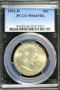 Click now to see the BUY IT NOW Price! 1951   D PCGS MS66FBL FRANKLIN HALF DOLLAR    HD0338