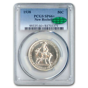 Click now to see the BUY IT NOW Price! 1938 NEW ROCHELLE HALF 250TH ANNIVERSARY SP 66  PCGS CAC   SKU207077