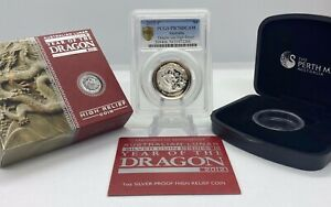 Click now to see the BUY IT NOW Price! 2012 1 OZ SILVER YEAR OF THE DRAGON HIGH RELIEF PROOF PCGS PR70 DCAM GOLD SHIELD