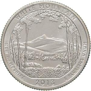 2013 S PARKS QUARTER ATB WHITE MOUNTAIN NATIONAL FOREST BU CN CLAD US COIN