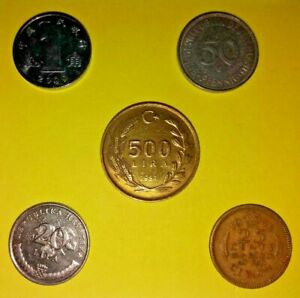 LOT2 OF  MIXED VINTAGE WORLD COINS A UNIQUE SMALL COLLECTION