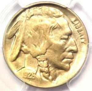 1926 D 2 FEATHERS BUFFALO NICKEL 5C FS 401 TWO   PCGS UNCIRCULATED DET  MS UNC
