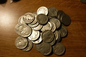 LOT OF 42 U.S. 1920 P BUFFALO NICKELS INDIAN HEAD NICKELS AG G