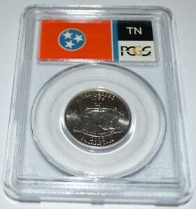 2002 P TENNESSEE STATE QUARTER MS68 PCGS WITH STATE FLAG HOLDER