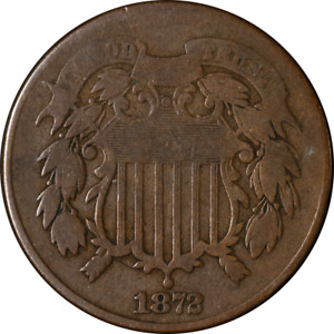 1872 TWO  2  CENT PIECE CHOICE G/VG KEY DATE SUPERB EYE APPEAL NICE STRIKE