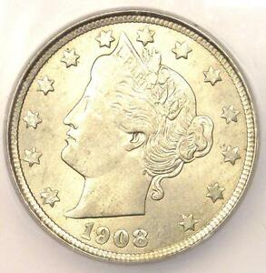1908 LIBERTY NICKEL 5C COIN   CERTIFIED ICG MS64  BU UNC     COIN
