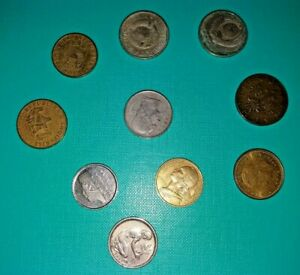 LOT2 OF 10 MIXED VINTAGE EUROPEAN COINS   COLLECTION FROM EUROPE   BARGAIN