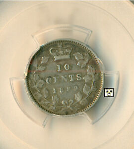 PCGS CANADA 1889   10CENTS COIN ;  VF35