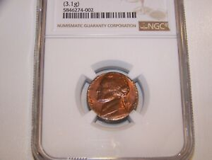 1980 NICKEL ON PENNY ERROR COIN NGC GRADED   & VALUABLE BUT LOW PRICED