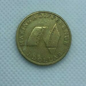 MAKING A DIFFERENCE AUSTRALIA'S VOLUNTEERS $1 COIN2003 CIRCULATED