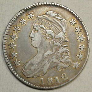 1812 BUST HALF DOLLAR CHOICE FINE SHARP EARLY TYPE   0214 24
