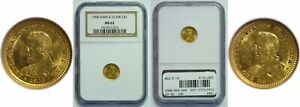1904 LEWIS AND CLARK $1 GOLD COMMEMORATIVE NGC MS 62
