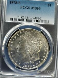 Click now to see the BUY IT NOW Price! 1878 S HITLIST & WOW  VAM 19A  CAP BAND GOUGE  PCGS MS 63 MORGAN SHIPS FREE