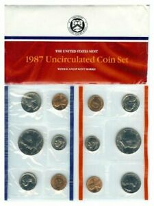 1987 P & D UNITED STATES MINT SET PHILADELPHIA DENVER BULLION BIRTH YEAR SET