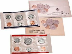 1988 P & D UNITED STATES MINT SET PHILADELPHIA DENVER BULLION BIRTH YEAR SET