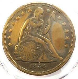 1846 O SEATED LIBERTY SILVER DOLLAR $1   PCGS VF DETAILS    DATE COIN
