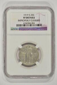 1919 S STANDING LIBERTY QUARTER 25C NGC VF DETAILS CLEANED 4184384 004