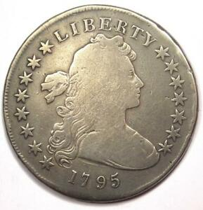 1795 DRAPED BUST SILVER DOLLAR  $1 COIN SMALL EAGLE    VG DETAILS  VERY GOOD