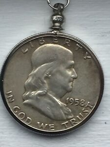 1958 FRANKLIN HALF DOLLAR NECKLACE