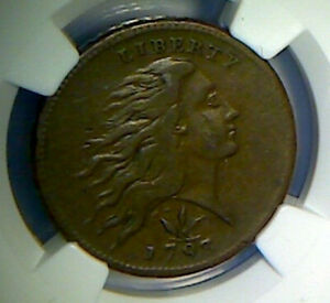 Click now to see the BUY IT NOW Price! 1793 WREATH CENT  VINE & BARS  NGC VF25BN NICE