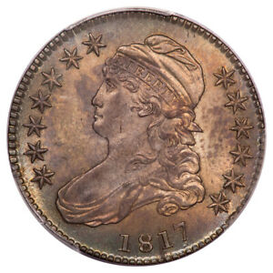 Click now to see the BUY IT NOW Price! 1817 50C OVERTON 110 CAPPED BUST HALF DOLLAR PCGS MS64