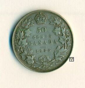 1936 CANADA  50CENTS  COIN  ; FINE