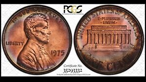 Click now to see the BUY IT NOW Price! 1975 LINCOLN MEMORIAL CENT PCGS MS66BN POP 1 SOLO FINEST KNOWN PCGS PLATE COIN