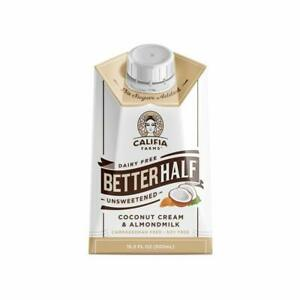 CALIFIA FARMS UNSWEETENED BETTER HALF COFFEE CREAMER 16.9 FL OZ  PACK OF 6  | C