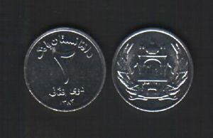AFGHANISTAN 1 OR 2 OR  5 AFGHANIS NEW 2004 US EU AMERICAN FORCE UNC MONEY 1 COIN