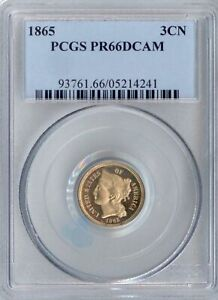 Click now to see the BUY IT NOW Price! 1865 THREE CENT NICKEL PR66DCAM PCGS  PA5214241