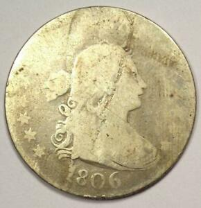 1806 DRAPED BUST QUARTER 25C COIN    EARLY DATE COIN